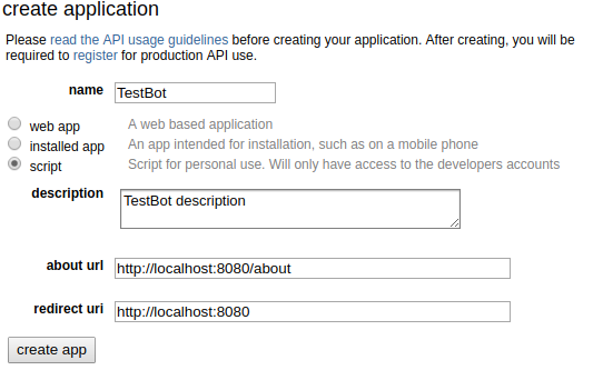 Bot Account Setup — bottr 0 1 4 documentation